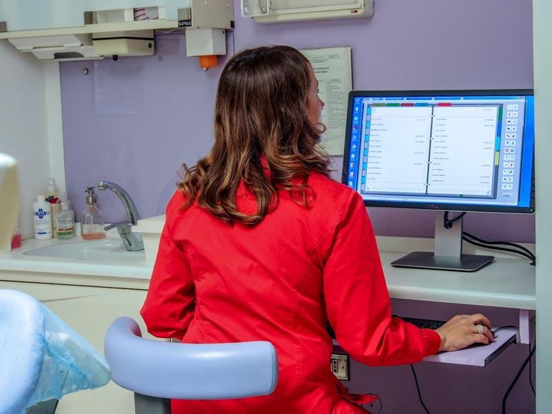 ipnosi di foto dello studio dentistico spaggiari
